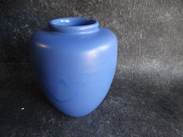 Catalina Island Red Clay Matte Blue Miniature Oil Jar B3067