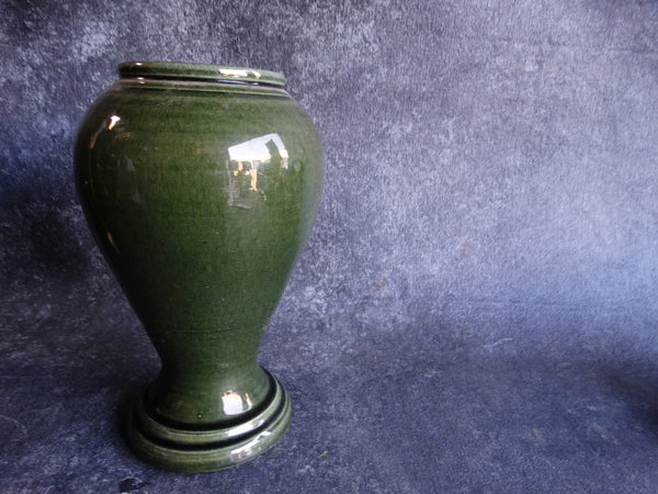 Bauer Pedestal California Vase in Ink Green B3072