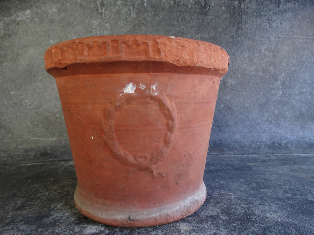 Small Bauer Redware Laurel Pot B3087