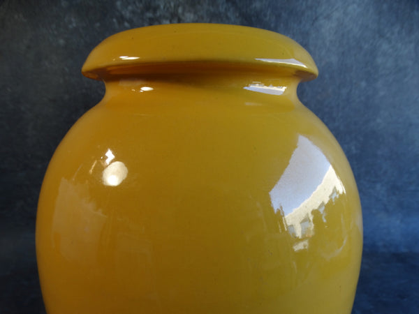 Bauer Matt Carlton Hand-thrown Vase in Mandarin Yellow circa 1930 B3104