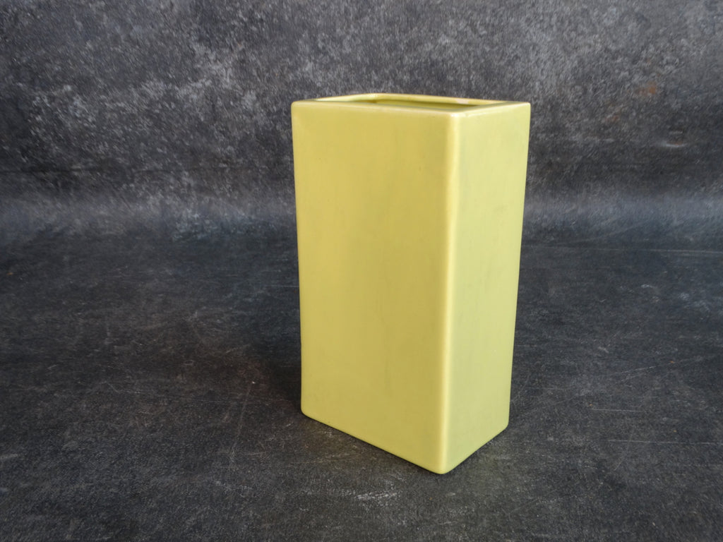 Bauer Pillow Vase in Chartreuse 1940s B3131