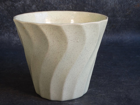 Bauer Speckle Ware Swirl Jardiniere in Pale Yellow B3139
