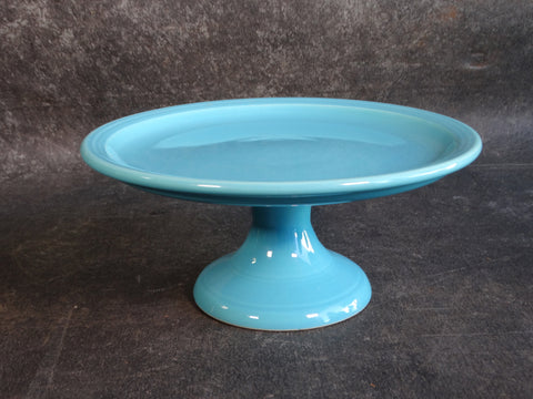 Bauer Cake Plate In Turquoise c 1920 B3150