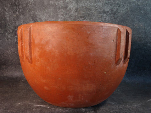 Bauer Redware Indian Bowl c 1920s-30s B3169
