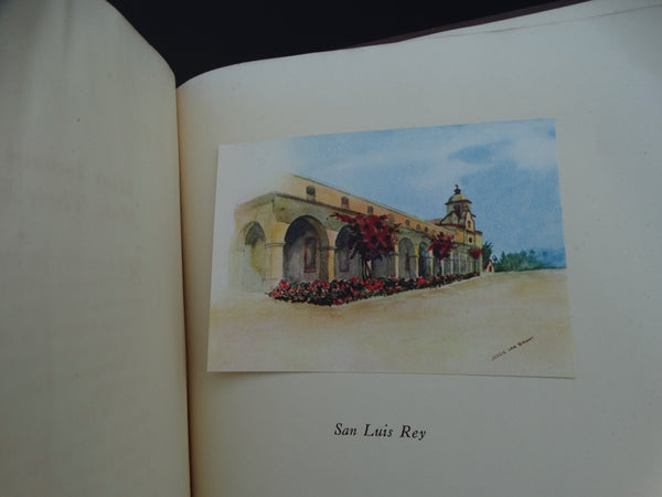 "Book: ""California Missions"" painted and described by Jessie Van Brunt"