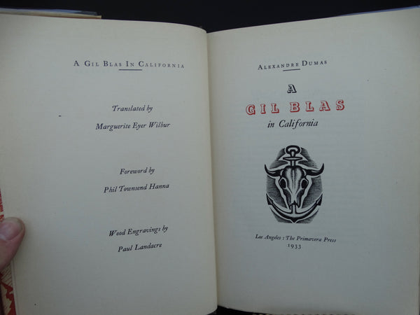 "Book: ""A Gil Blas in California"" by Alexandre Dumas"