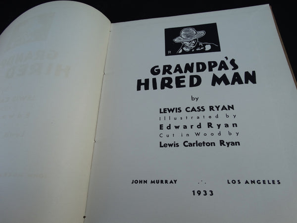 "Book: ""Grandpa's Hired Man"" by Lewis Cass Ryan"
