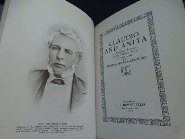 "Book: ""Claudio and Anita"" by Maria S. Lopez de Cummings"