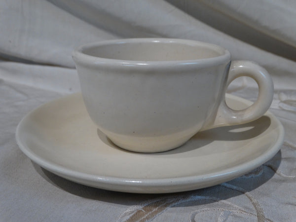 Catalina Island Red Clay Ivory Cup and Saucer