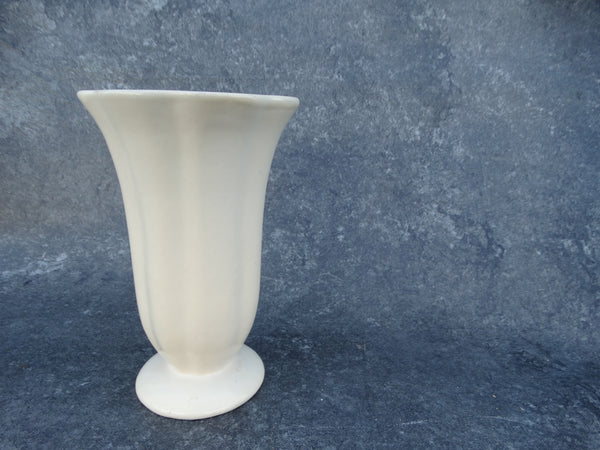 Catalina Island Pottery Scallop Vase in Ivory