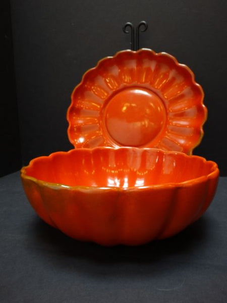 Catalina Orange Bowl and Plate