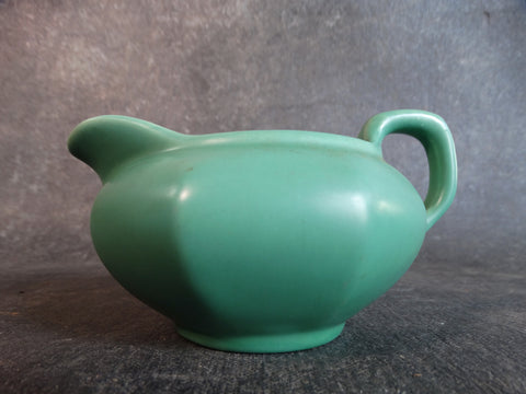 Catalina Island White Clay Creamer in Descanso Green C394