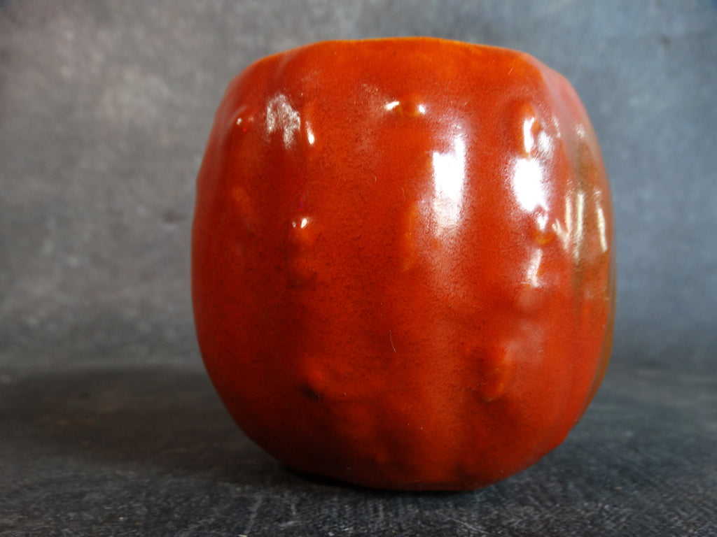 Catalina Island Gourd Condiment Jar Base in Toyon Red C396