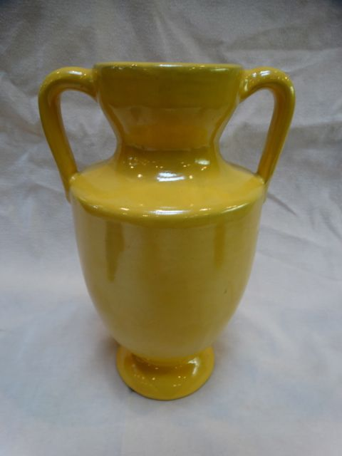 Catalina Island Red Clay Trophy Vase in Mandarin Yellow