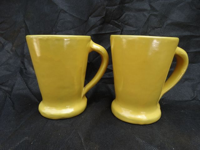 Catalina Mugs, Pair of Yellow