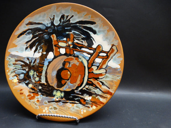 Catalina Island Pottery Decorated Plate, Bud Upton