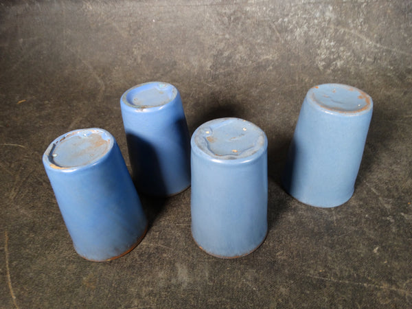 Catalina Island Pottery Red Clay Set of 4 Tumblers in Matte Blue C502