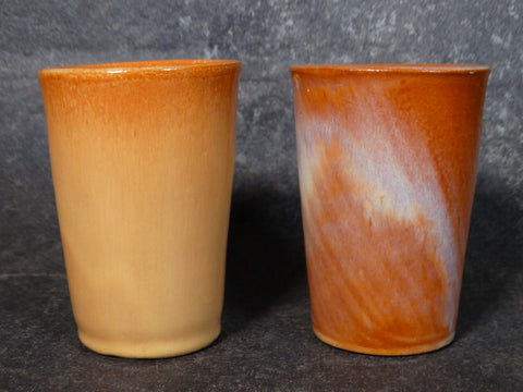Catalina Island Pair of Red Clay Tumblers in Monterey Brown C504