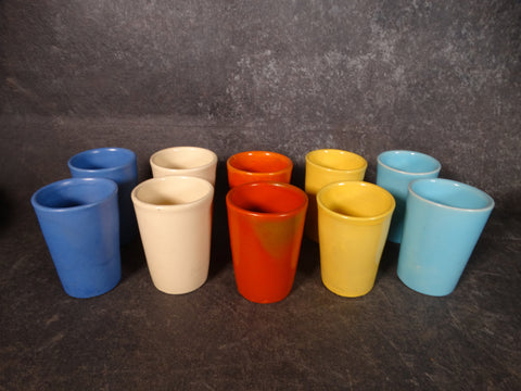 Catalina Island Pottery Set of Tumblers in Assorted Colors C508