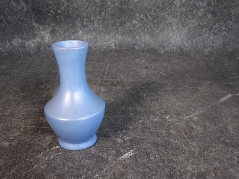 Catalina Island Bud Vase in Blue over Red Clay C522