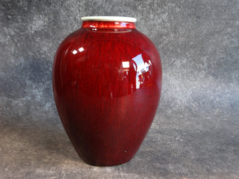 Catalina Pottery Vase/Urn/Oil Jar in Oxblood C526