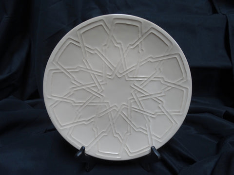 Catalina Red Clay White Moorish Plate 11 1/4""