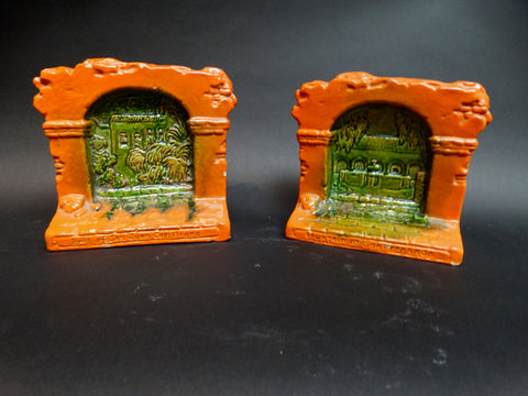 Claycraft Glazed Bookends