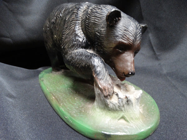 California Black Bear Plaster Statue