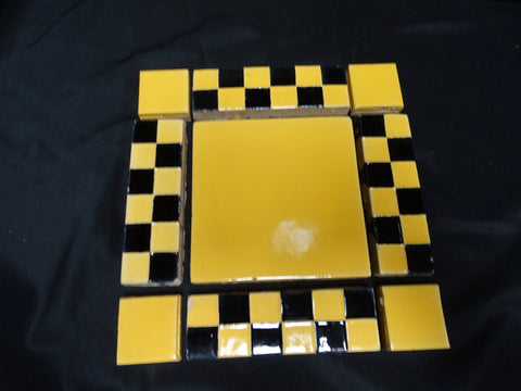 Malibu 9-Tile: Rare Black and Yellow Checkerboard Pattern