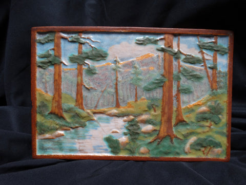 Calco Arts & Crafts Redwood Forest Scene Tile