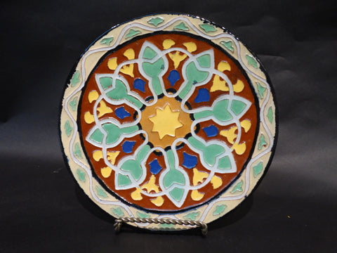 Malibu Potteries Decorated Plate