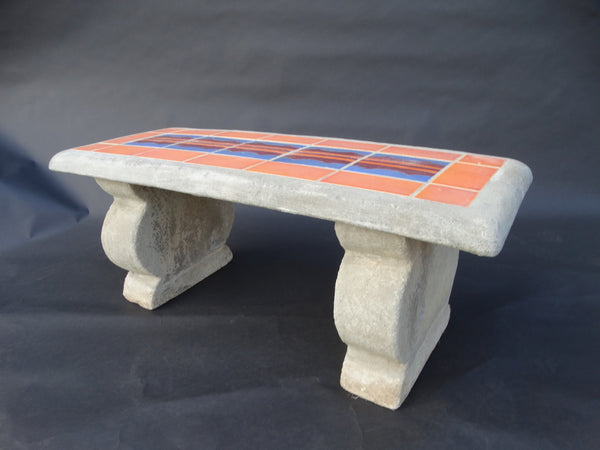 Gladding McBean Hillside Garden Bench c 1930