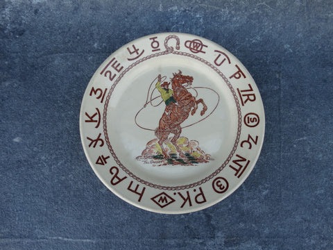"Till Goodan Westward Ho Rodeo Pattern Plate 9"" diameter"