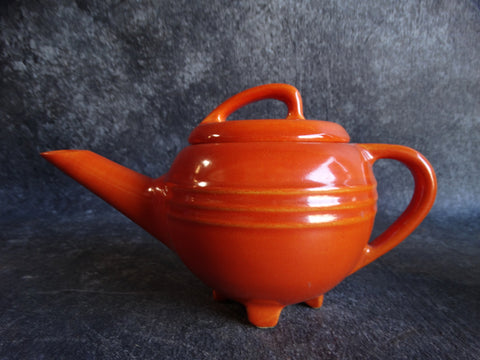 Pacific Hostess Ware Waffle Syrup Pitcher in Apache Red CA2085