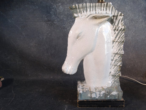 Horse Head Lamp attributed to Barbara Willis CA2122