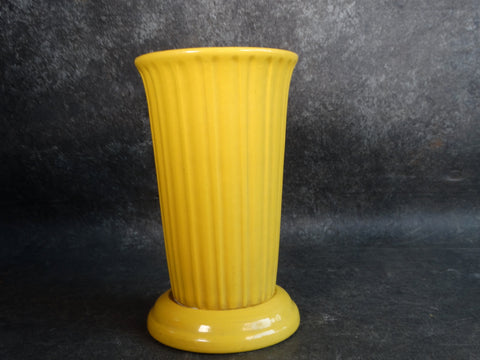 Garden City White Clay Fluted Vase in Yellow CA2124