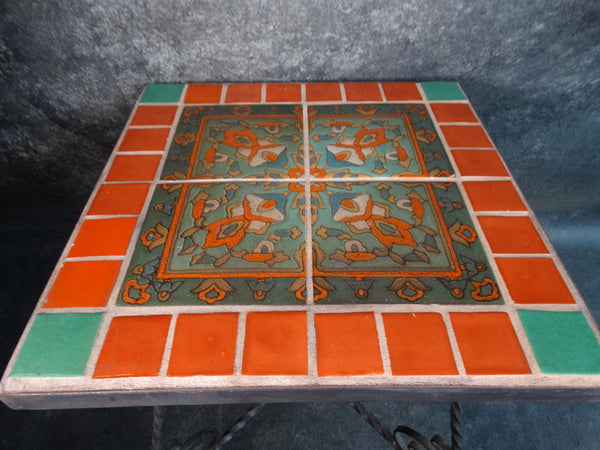 Spanish Revival Wrought Iron Taylor Tile Tile-Top Table CA2125