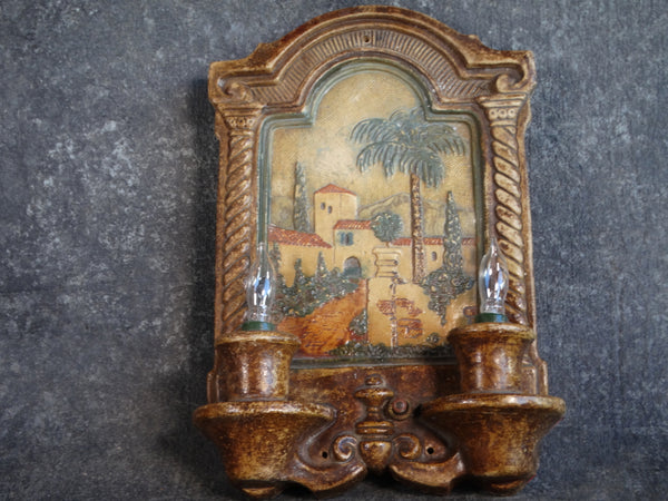 Claycraft Spanish Revival Tile Wall Sconce circa 1927-1930 CA2131