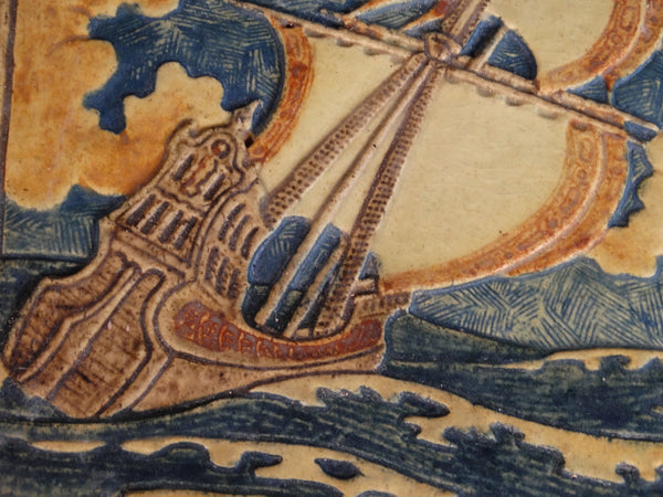 Claycraft Spanish Galleon in Full Sail Glazed Tile CA2139