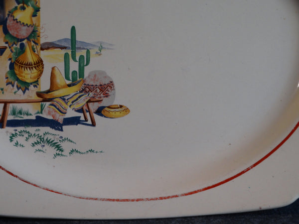 Homer Laughlin Mexicana Serving Dish CA2159