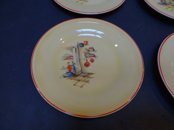 Edwin M. Knowles China – Oval Plates with Mexican Theme