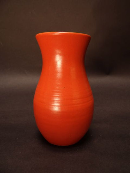 Pacific or California Rainbow Hand Thrown Vase in Apache Red