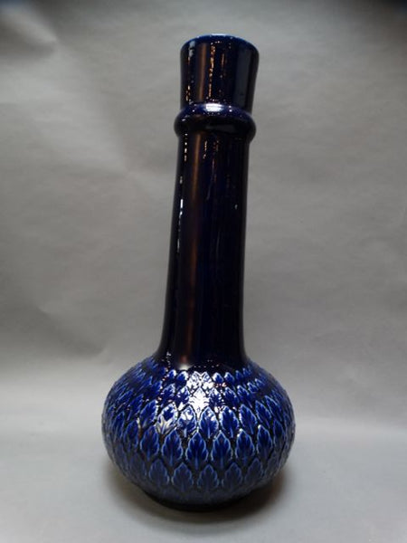 Monumental Morrocan-style Cobalt Stovepipe Vase 1960s