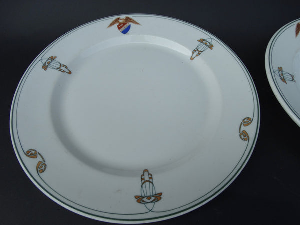 Plate and Salad Bowl, Syracuse China (The Muscatine)