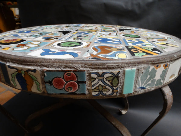 Vintage Malibu Specimen Tile Table