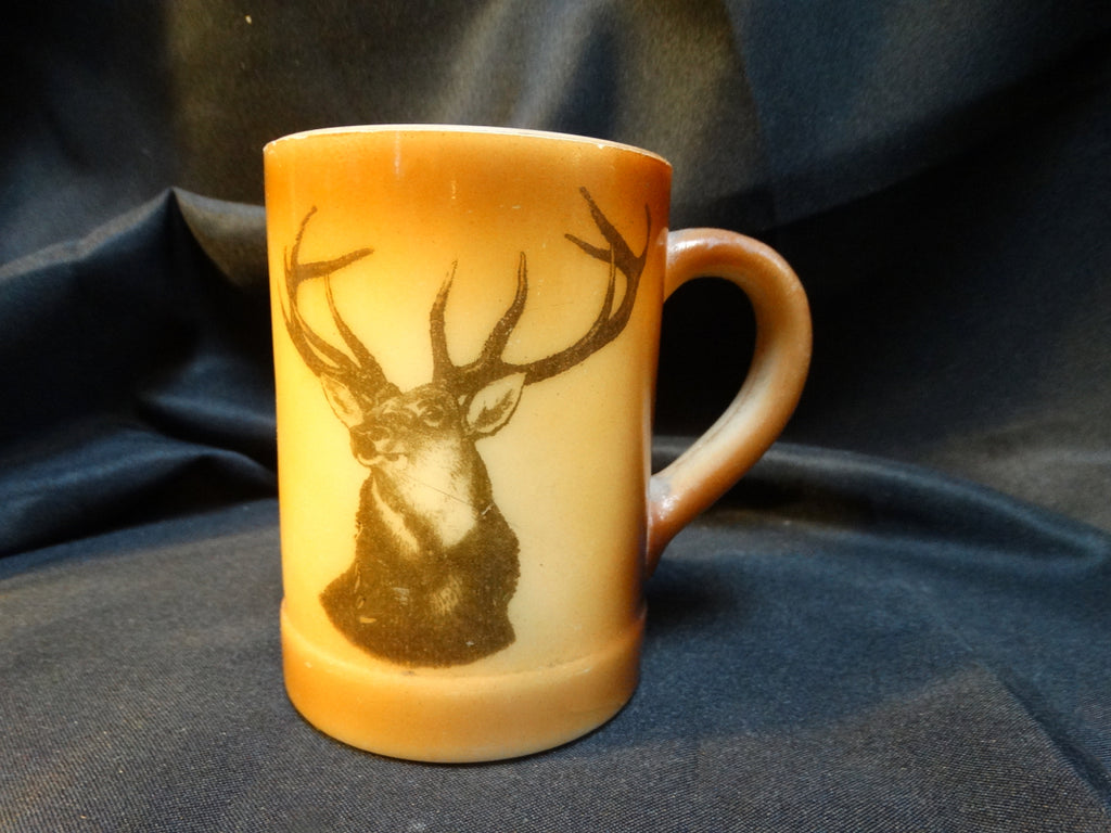 1930s Glass Elk Mug
