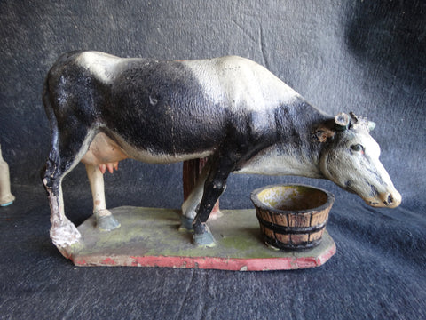 Tlaquepaque Cow pottery Figure circa 1930's