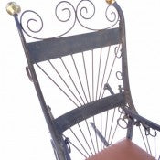 Folk Art Rocking Chair fashioned from Metal Farm-Horse Hames and Wrought Iron
