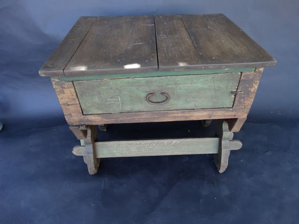 Mexican Colonial 18th Century Rustic Cabinet Table