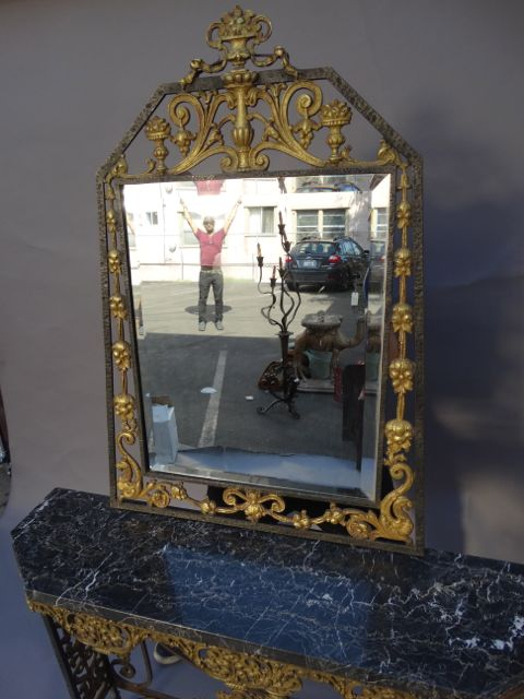 Oscar Bach Console and Mirror 1920s